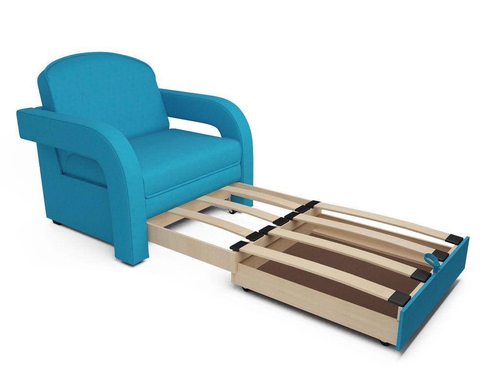 Кресло Мебель-АРС Кармен-2 синий (рогожка) - фото 5