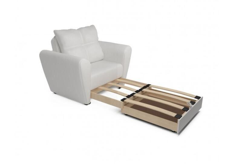Кресло Craftmebel Квартет - экокожа белая - фото 3