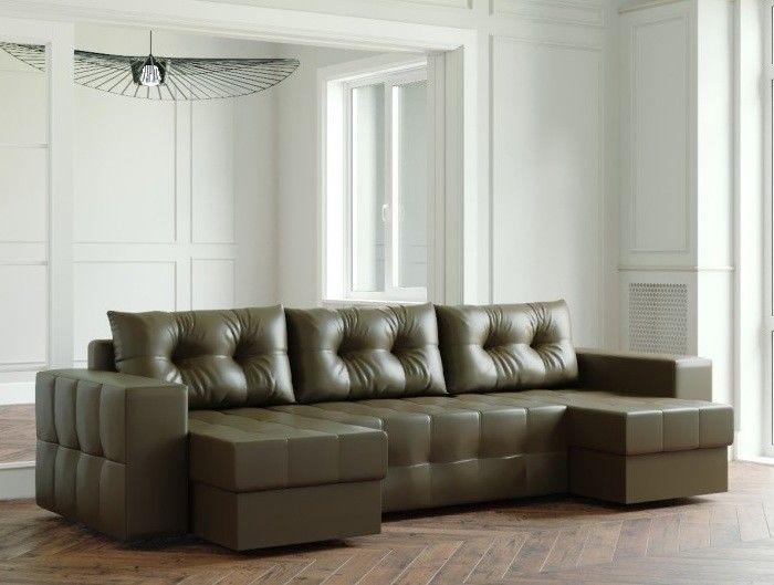 Диван Настоящая мебель Ванкувер Мейсон (модель: 00-00000064) экокожа/коричневый - фото 1