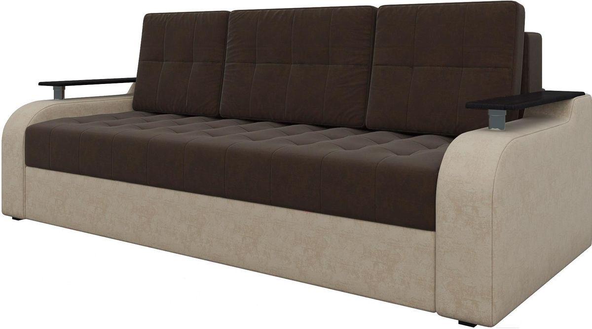 Диван Mebelico Ричард 483 вельвет коричневый/бежевый - фото 1