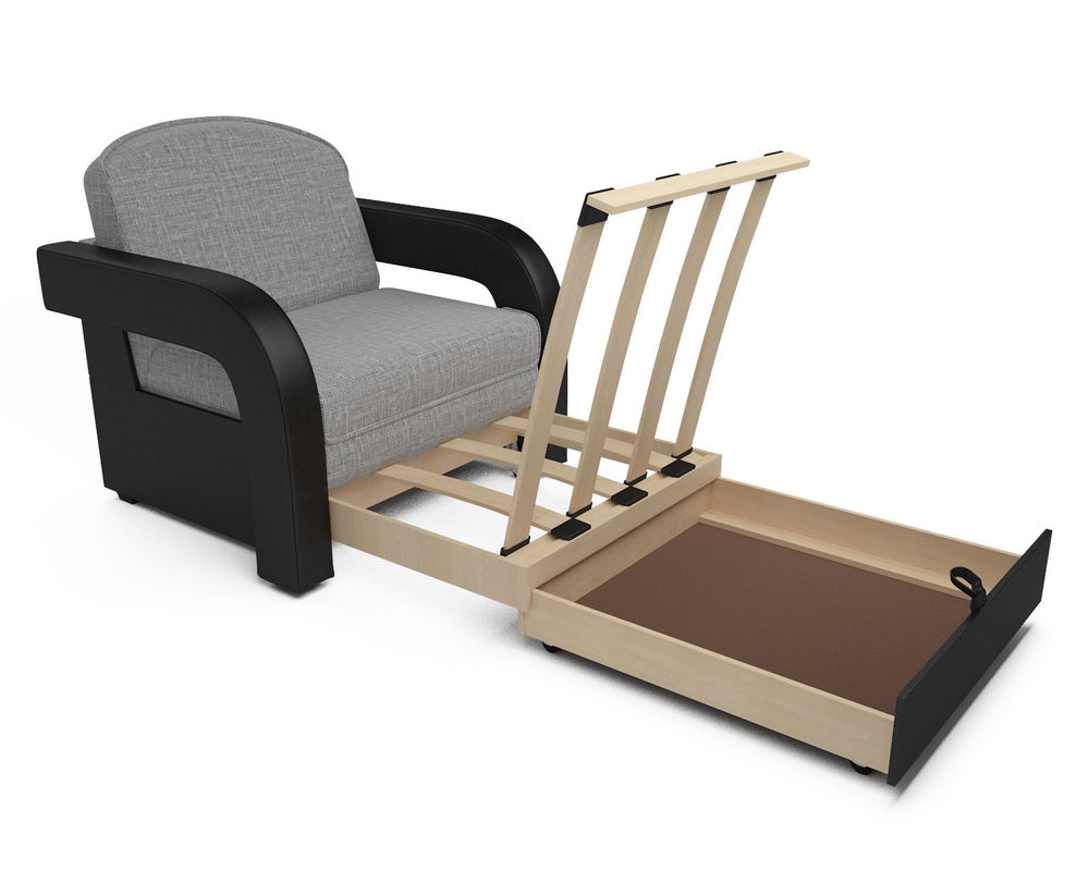 Кресло Мебель-АРС Кармен-2 (рогожка серая) - фото 6