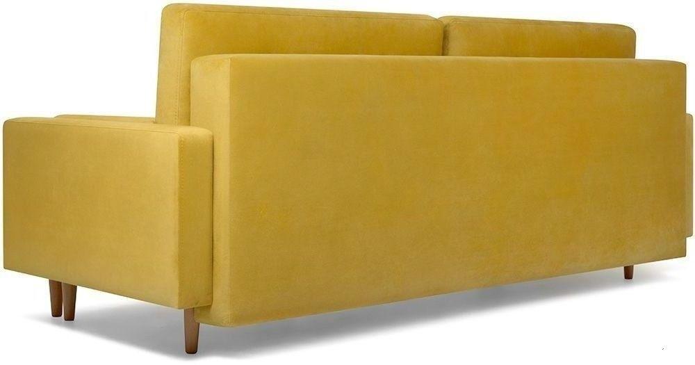 Диван Woodcraft прямой Динс Velvet Yellow - фото 2