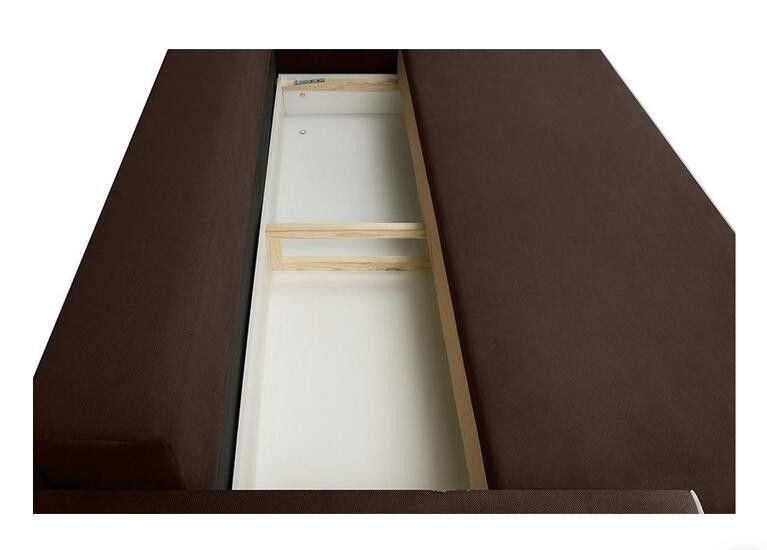Диван Craftmebel Прямой Сильвио коричневая рогожка - фото 6