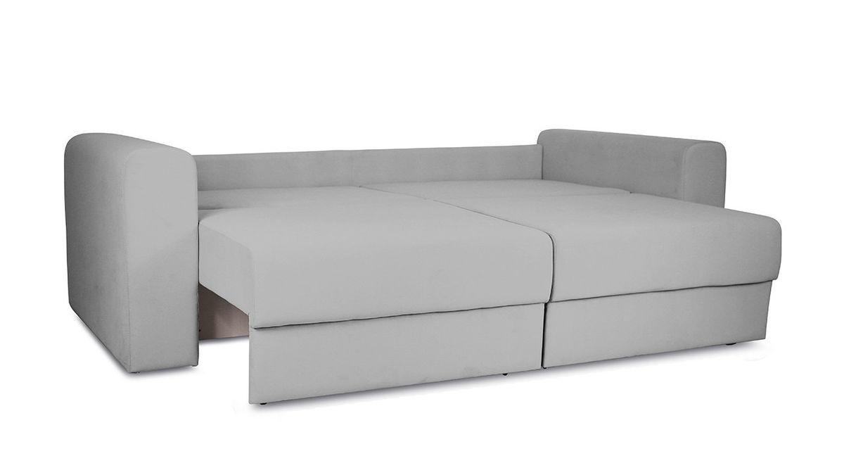Диван ТриЯ «Раймонд» (Kolibri Silver (велюр) серый подушка Kolibri Cream (велюр) кремовый) - фото 6