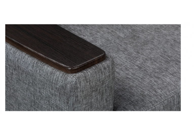 Кресло Craftmebel Майами рогожка серая - фото 4