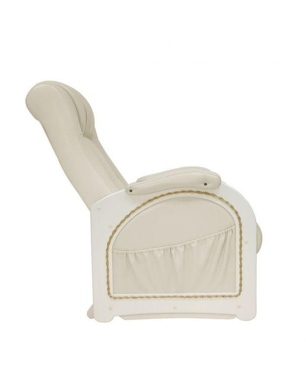 Кресло Impex Кресло-гляйдер Модель 48 экокожа сливочный (oregon 106) - фото 8