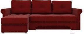 Диван Mebelico Гранд 491 левый 57912 вельвет красный - фото 1