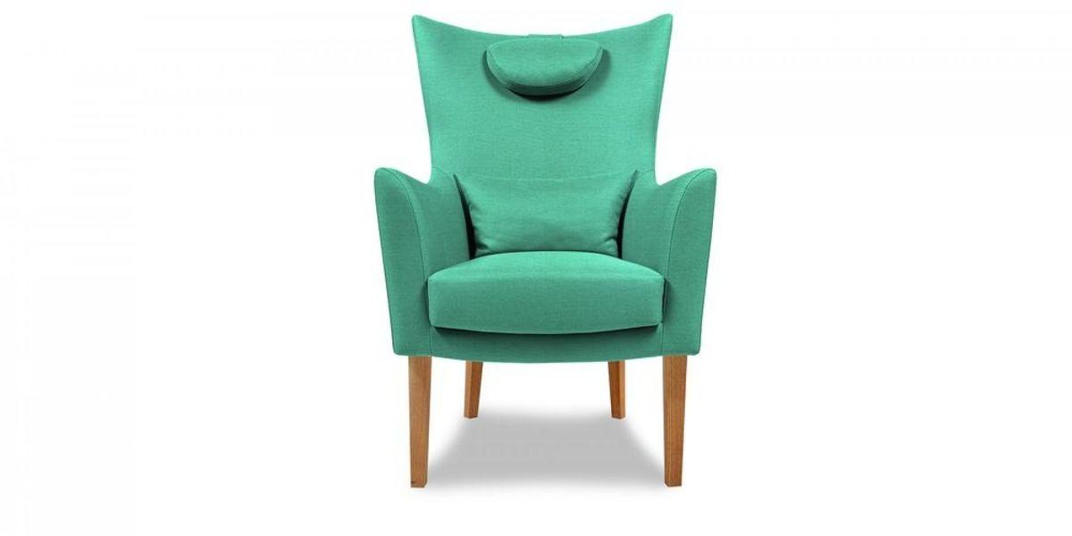 Кресло WOWIN Элеганза высокое (Бирюзово-голубая микророгожка) - фото 2