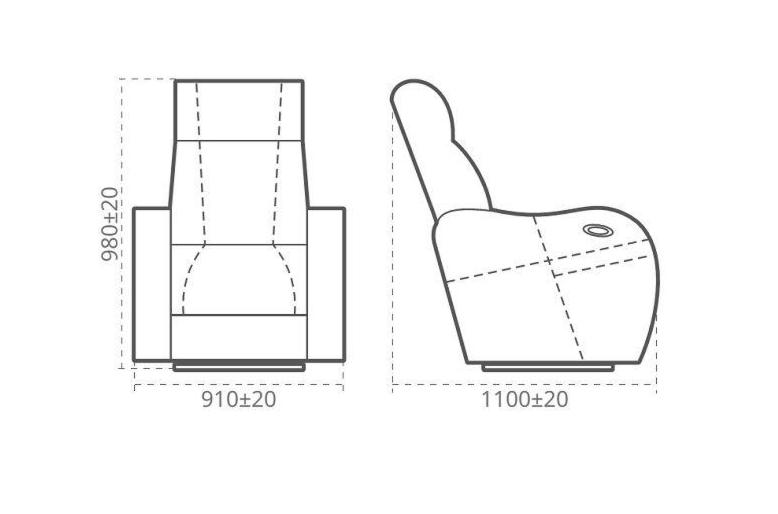 Кресло Апогей-Мебель Луксор-Р - фото 3