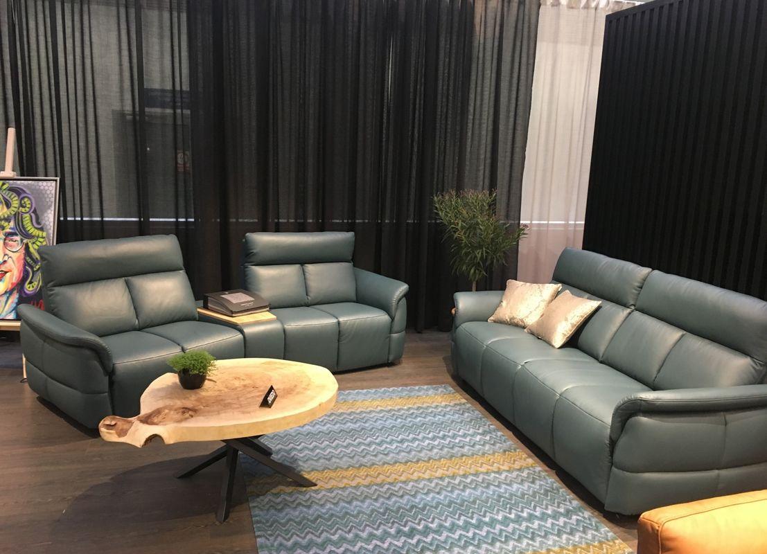 Набор мягкой мебели Gala Collezione Oviedo 285x103x102 (кожа) - фото 7