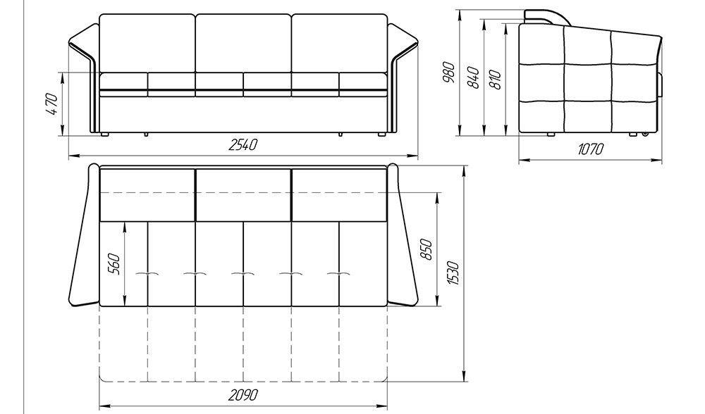 Диван LAMA мебель Толедо - фото 2