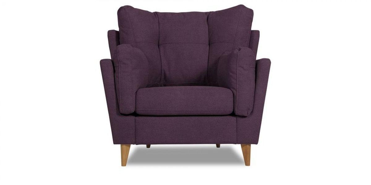 Кресло WOWIN Хюгге (Темно-фиолетовый велюр) - фото 2