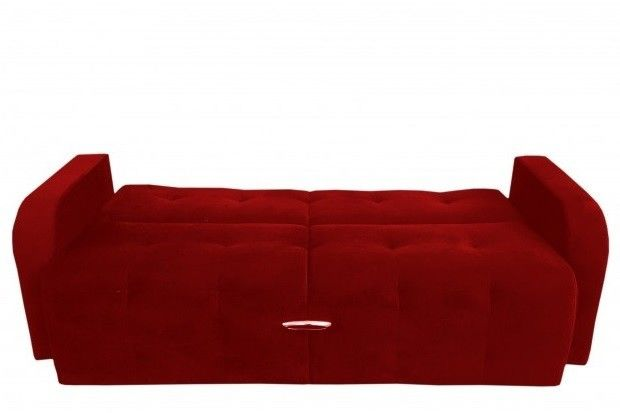 Диван Луховицкая мебельная фабрика Марсель (велюр красный) 140x190 - фото 2
