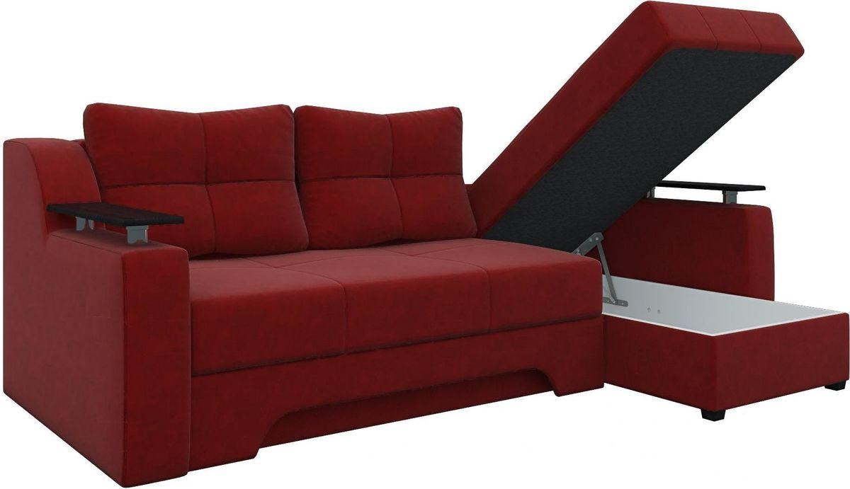 Диван Mebelico Сенатор 145 правый 57905 вельвет красный - фото 3