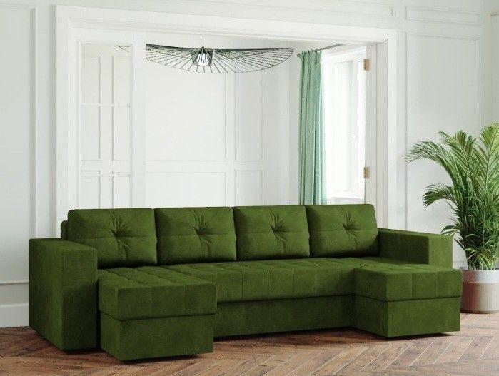 Диван Настоящая мебель Ванкувер Лайт (Модель: 66666) зеленый - фото 1