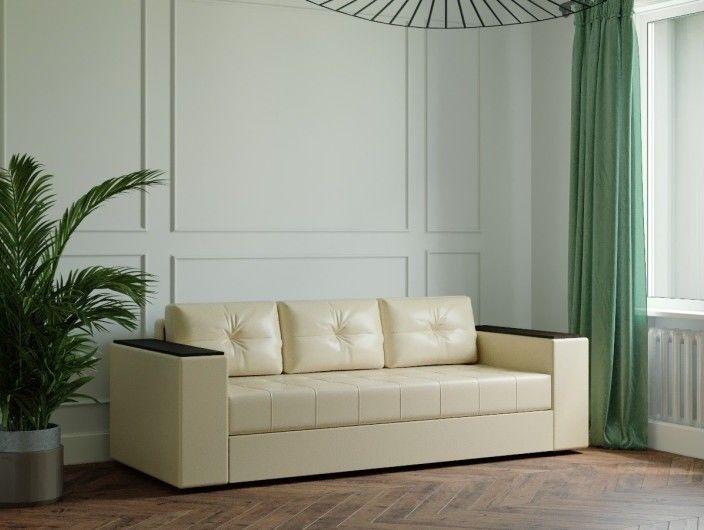 Диван Настоящая мебель Ванкувер Лайт с декором (модель: 00-000034501) бежевый - фото 1