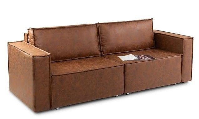 Диван Craftmebel Лофт (экокожа коричневая) - фото 1