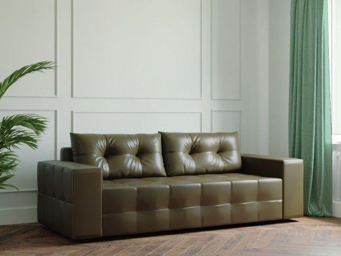 Диван Настоящая мебель Ванкувер Мейсон (модель: 00-00000037) экокожа/коричневый - фото 1