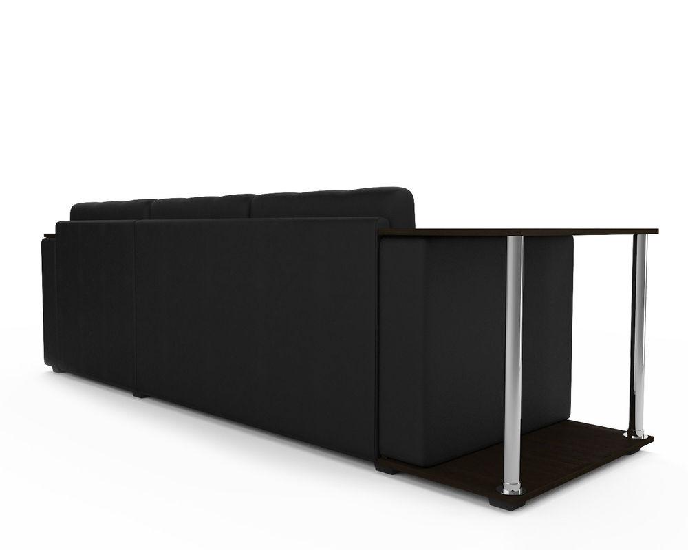 Диван Мебель-АРС Атланта (экокожа черная без полосы) - фото 3