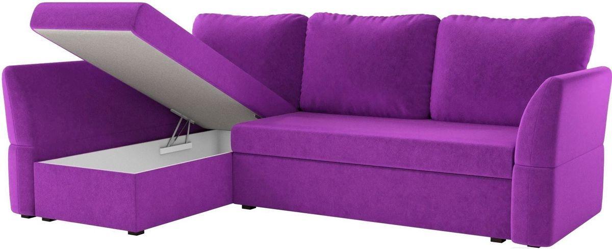Диван Mebelico Гесен 100 левый 60062 микровельвет фиолетовый - фото 2