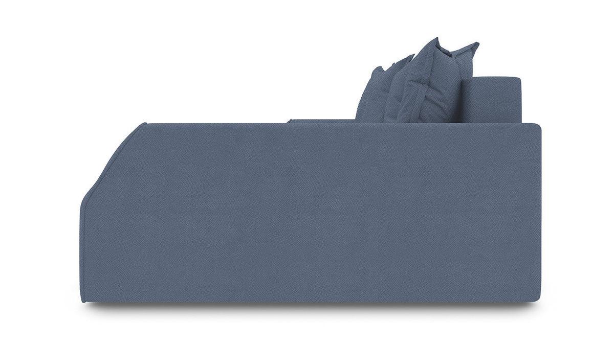 Диван ТриЯ правый «Люксор Slim Т2» (Maserati 21 (велюр), серо-синий) - фото 3