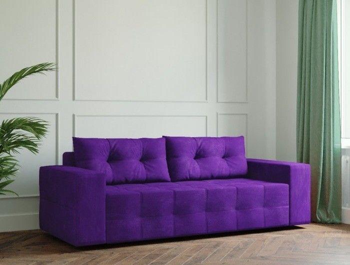 Диван Настоящая мебель Ванкувер Мейсон (модель: 00-00000033) фиолетовый - фото 1