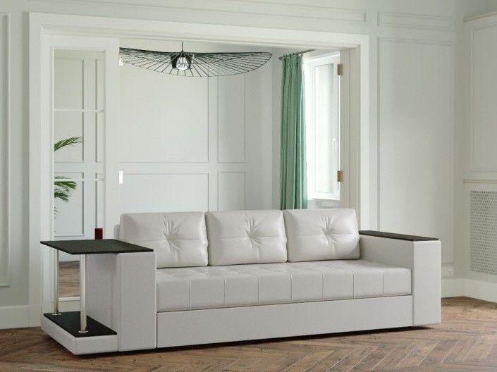 Диван Настоящая мебель Ванкувер Лайт (модель: 00-00003455) со столом (белый) - фото 1