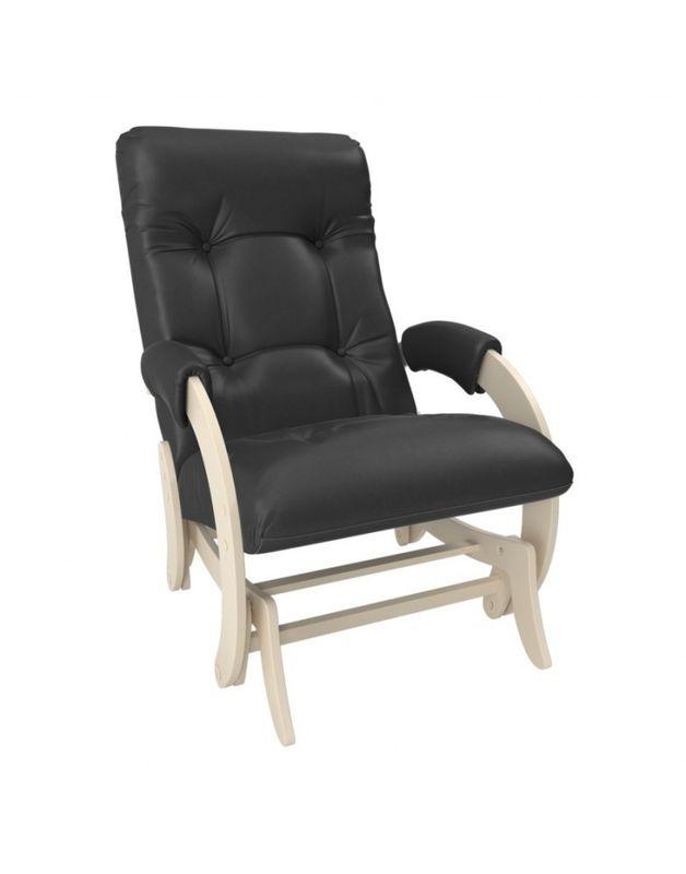 Кресло Impex Кресло-гляйдер Модель 68 экокожа сливочный (dundi 109) - фото 1
