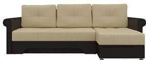 Диван Mebelico Гранд 491 правый 58016 экокожа бежевый/коричневый - фото 1