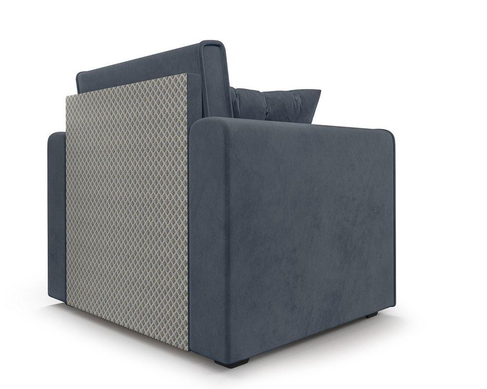 Кресло Мебель-АРС Санта (велюр серо-синий /НВ-178/26) - фото 5