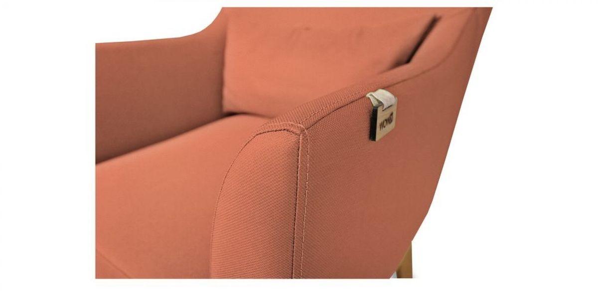 Кресло WOWIN Элеганза (Терракотовый велюр) - фото 3
