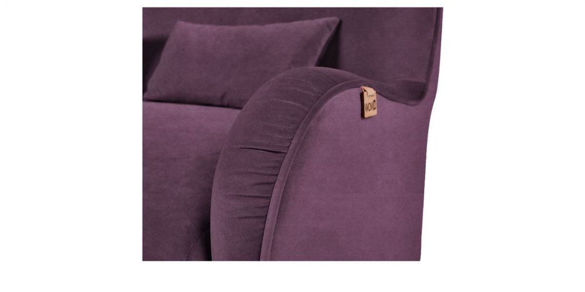 Кресло WOWIN Амели (Темно-фиолетовый велюр) - фото 3