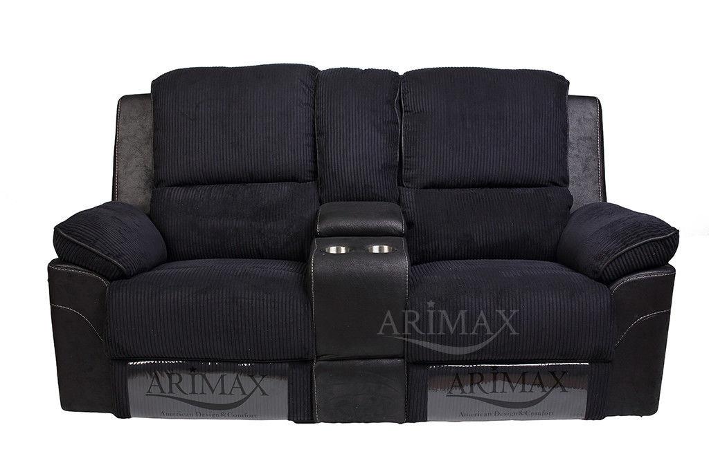 Диван Arimax Брукс (Ежевика) с консолью и реклайнерами - фото 2