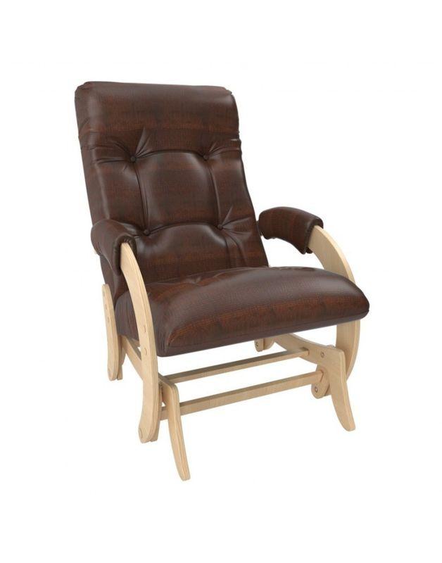 Кресло Impex Кресло-гляйдер Модель 68 экокожа натуральный (Антик-крокодил) - фото 3