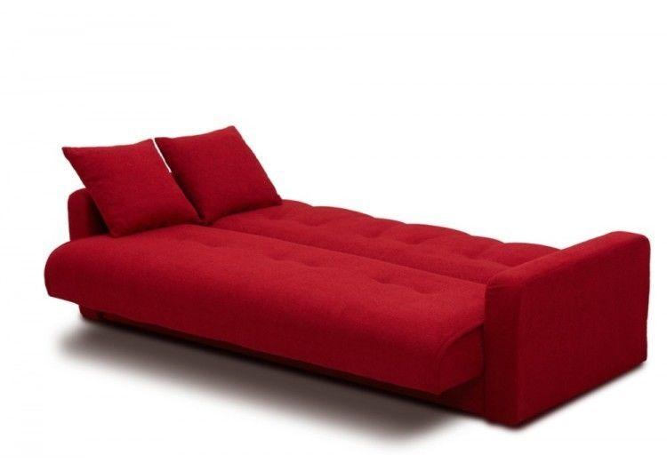Диван Луховицкая мебельная фабрика Милан (Астра красный) пружинный 140x190 - фото 5