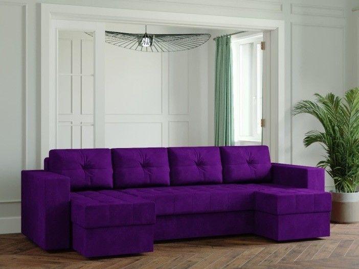 Диван Настоящая мебель Ванкувер Лайт (Модель: 33333) фиолетовый - фото 1