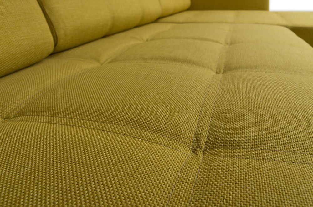 Диван Woodcraft Угловой Атланта Textile Yellow - фото 9