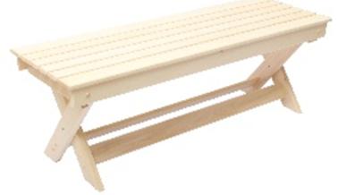 Мебель для бани и сауны Липа Лавка раскладная 1200x445x330 - фото 1