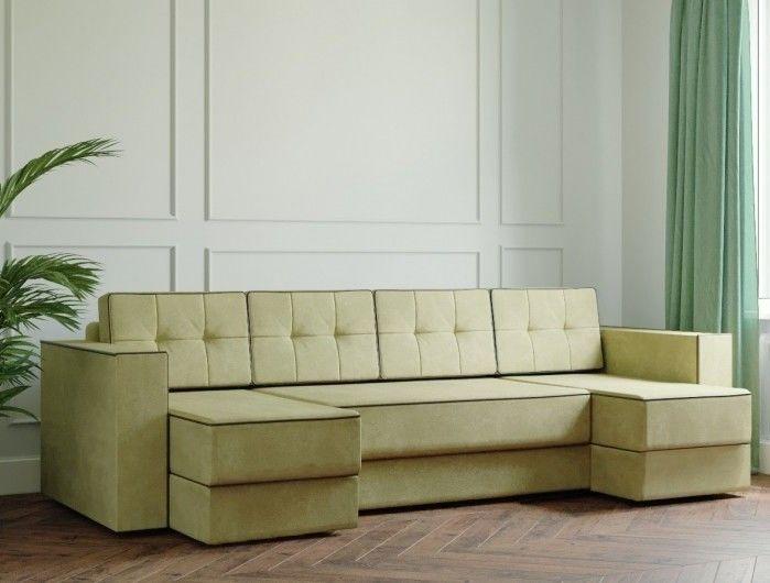 Диван Настоящая мебель Ванкувер Модерн (модель: 00-00000046) светло-зелёный - фото 1