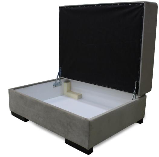Пуфик Экомебель Милан с нишей для хранения (ткань 2) Модель 3 - фото 1