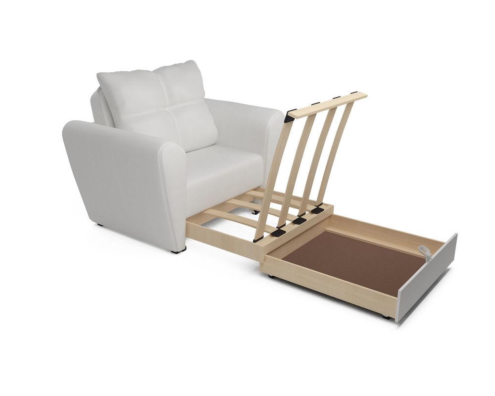 Кресло Мебель-АРС Квартет - экокожа белая - фото 5