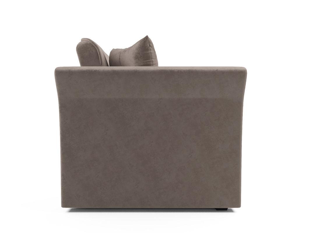 Диван Мебель-АРС Малютка №2 (бархат серо-шоколадный STAR VELVET 60 COFFEE) - фото 4