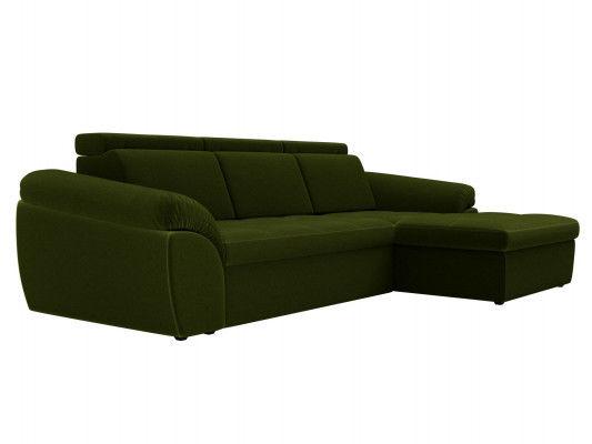 Диван ЛигаДиванов Мисандра угол правый микровельвет зеленый - фото 4