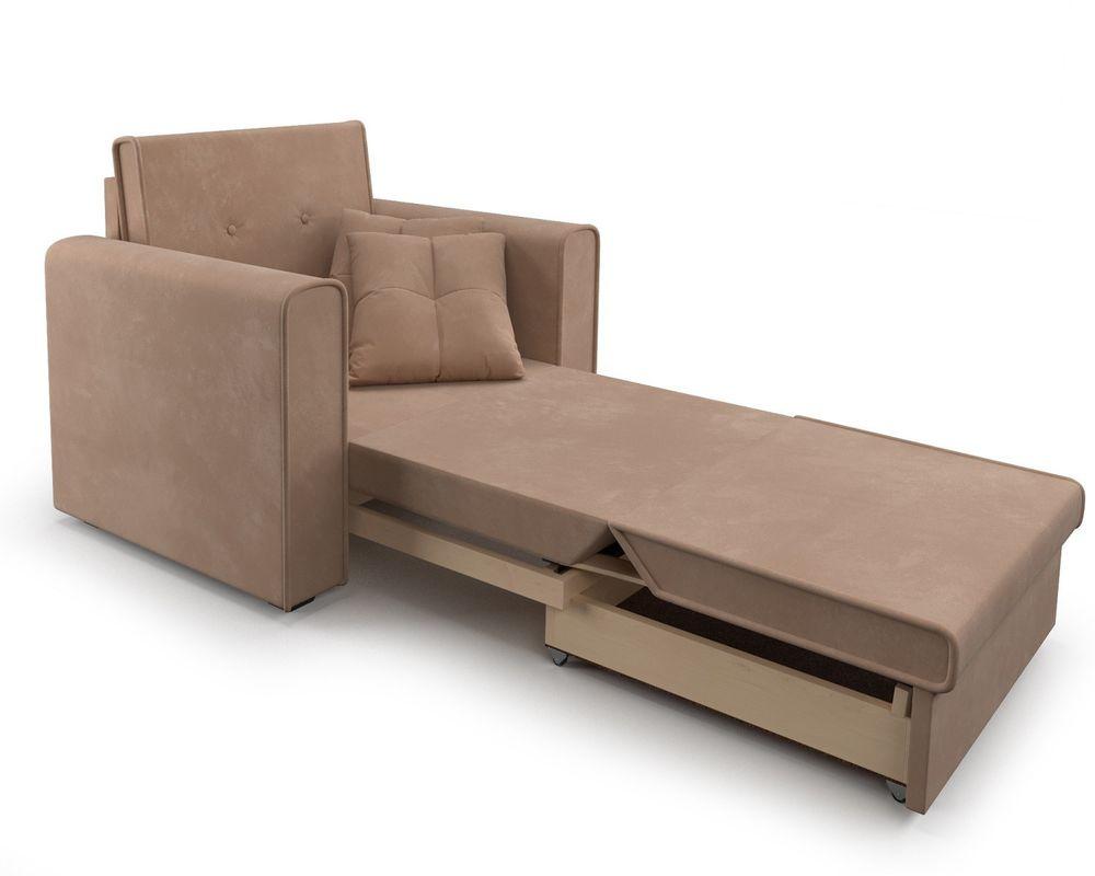 Кресло Мебель-АРС Санта (велюр бежевый - Luna 061) - фото 8