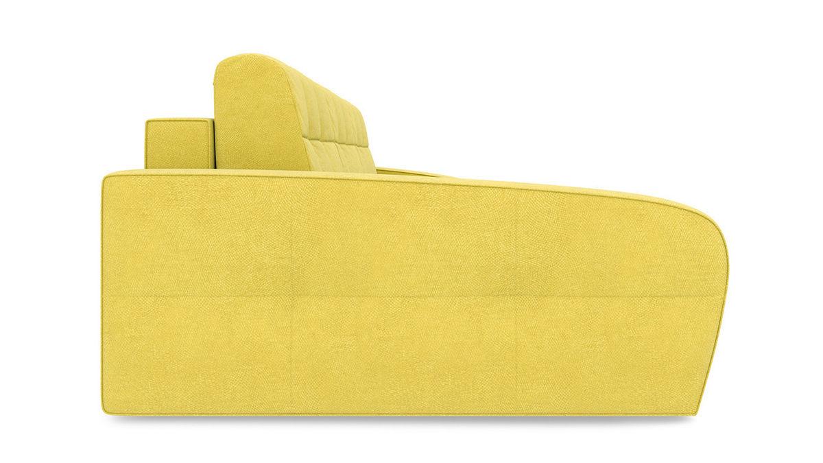 Диван ТриЯ левый «Аспен Slim Т2» (Maserati 11 (велюр), желтый) - фото 5