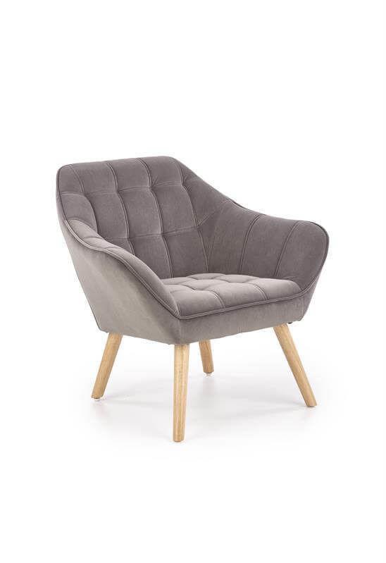 Кресло Halmar ROMEO (серый/натуральный) V-CH-ROMEO-FOT-POPIEL - фото 1