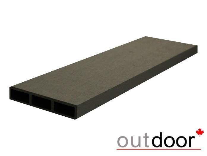 Декинг Outdoor ДПК 0520 115x22x3000 мм шлифованная черная - фото 1