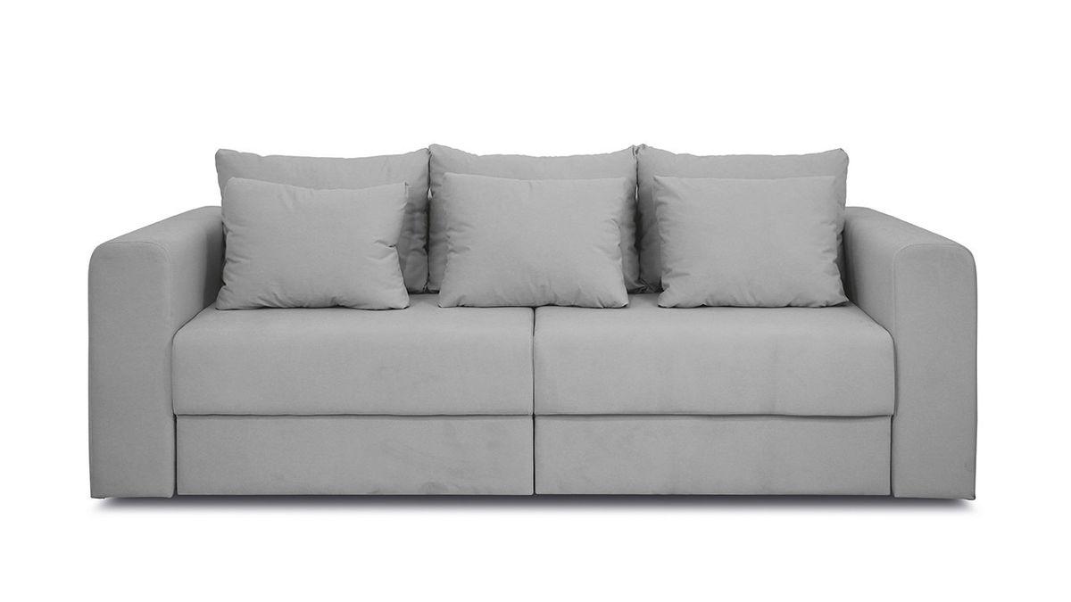Диван ТриЯ «Вилсон» (Kolibri Aqva (велюр) бирюзовый подушка Kolibri Cream (велюр) кремовый) - фото 3
