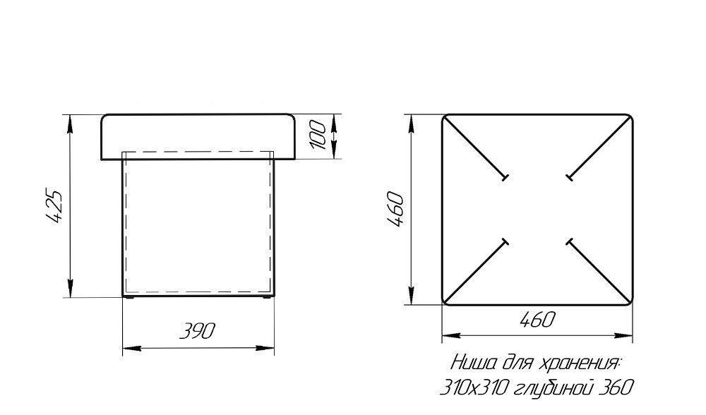 Пуфик LAMA мебель 1 - фото 3