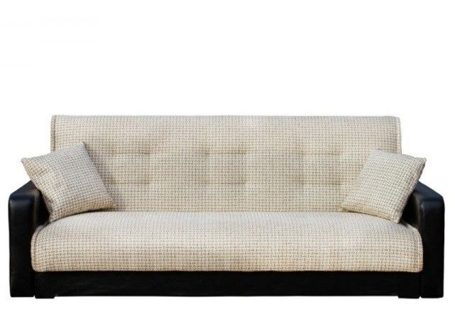 Диван Луховицкая мебельная фабрика Лондон (корфу микс бежевый) пружинный 120x190 - фото 1